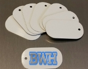"1-1/8"" x 2""  Dog Tags - white (50 pieces) .025 gauge"