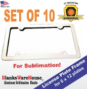 License Plate FRAMES (10 pieces)