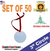 "3"" Circle Ornament / Single Sided - 50 pieces"
