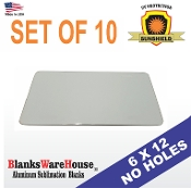 "No Hole License Plate / 6"" x 12""   -10 pieces"