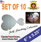 Heart Photo - Self Standing - Set of 10