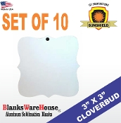Cloverbud (Prague) Ornament / Double Sided - 10 pieces