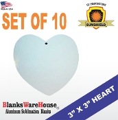 Heart Ornament - Set of 10