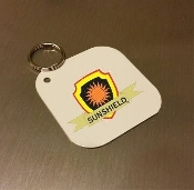 "2"" x 2""  Key Chains - White (50 pieces)"