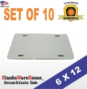"License Plate / 6"" x 12""  (10 pieces)"