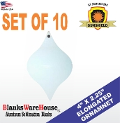 Elongated Icicle Ornament - Set of 10